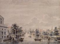 VII-259 Gezicht op de Leuvehaven, uit het zuiden.