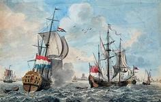 VII-294 Gezicht op de Maas.