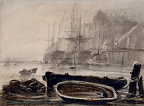 VII-305 Nieuwe Maas voor Rotterdam bij het Bolwek tijdens strenge vorst.