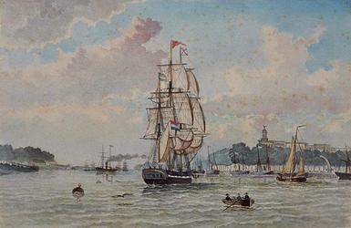 VII-312-01 De Maas bij de Willemskade uit het oosten.