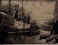 VII-366-01 Gezicht op de Maashaven.