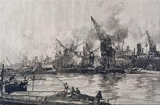 VII-367-02 Overslag van goederen in de Maashaven.