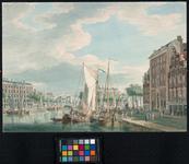 VII-401 Oudehaven. Rechts de Geldersekade; daaraan het `Huis met de zeepaarden' en links daarvan het latere ...
