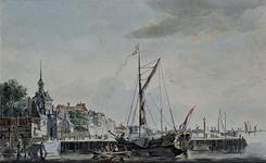 VII-409 Havenmond van de Oudehaven met de Ooster Oude hoofdpoort.