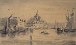 VII-411 Gezicht van het Oudehoofd van de Oudehaven gezien van het Haringvliet te Rotterdam.