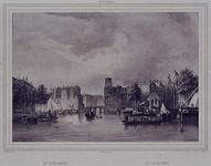 VII-414 Gezicht op de Oudehaven, de Spaansekade en de Kleine Draaibrug.