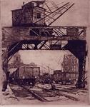 VII-557-02 Gezicht op een kolenlosplaats op Katendrecht.