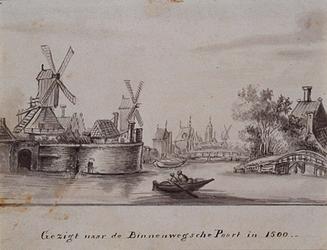 VIII-103 Stadsgracht tussen Goudse Poort en Hofpoort.