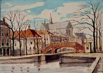 VIII-113-2 Couwenburghseiland met trappenbruggetje .Uit het westen.