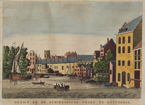 VIII-140 Gezicht op de Schiedamse Poort, vanaf de Schiedamsesingel.