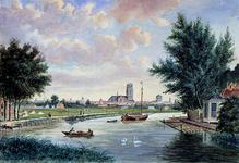 VIII-60-01 De Rotte bij Crooswijk in de omgeving van het huis Rubroek, op de achtergrond Rotterdam. n een onbekend schilder .