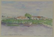 VIII-70-36 Gezicht op de Rotte met de scheepswerf De Noort uit het oosten. Scheepswerf de Noord met Ceintuurbaan aan ...