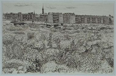 VIII-70-61-01 Gezicht op de Rotte en het Noorderkanaal in de omgeving van de Heer Vrankestraat, uit het noordoosten. ...