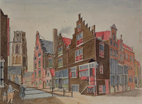 VIII-93 Lange Torenstraat (Slijkvaart), met Bank van Lening.(ongeveer als RI 906)