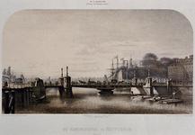 X-140 Gezicht op de Koningsbrug over de Oudehaven, vanuit het noorden.