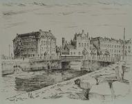 X-193-00-04 Gezicht op de Oude Oostbrug en de Admiraliteitskade, uit het zuidoosten.