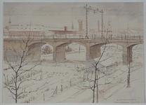 X-236-02-02 Spoorbrug over het Noorderkanaal bij de Gordelweg, uit het zuidwesten.