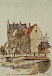 X-83 Gezicht op de Havenstraat bij de Aelbrechtsbrug.