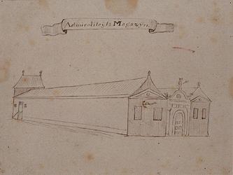 XI-14 Admiraliteitsmagazijn aan de Nieuwehaven.