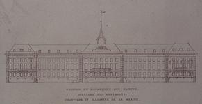 XI-17-1 Voorgevel van het Admiraliteitsmagazijn op 's Landswerf.