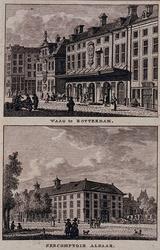 XI-23 De Waag aan de Kaasmarkt en het Zeecomptoir aan het Oostplein.