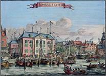 XI-3 Gezicht op het Admiraliteitshof aan de Spaansekade bij de Oudehaven, gezien uit het westen.