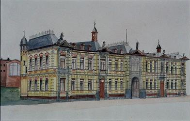XI-40-01 Het gerechtsgebouw aan de Noordsingel vanuit het westen.