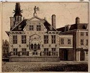 XII-10 Hoogstraat met gezicht op de achterzijde van het stadhuis aan de Kaasmarkt.