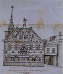 XII-13 De achterzijde van het Stadhuis en de Waag.