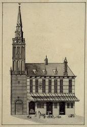 XII-2 Gezicht op het stadhuis aan de Hoogstraat uit het oosten.