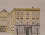 XII-29-02 Stadhuis aan de Kaasmarkt in de Hoogstraat, uit het zuiden.