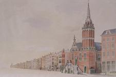 XII-6-01 Gezicht op de Hoogstraat met het stadhuis, uit het oosten.