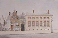 XII-86-02 Het belastingkantoor (bureau voor de regeling der plaatselijke direkte belastingen) aan de Hoogstraat. Het ...