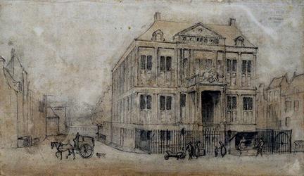 XIII-3 Gemeenlandshuis Schieland aan de Korte Hoogsraat.