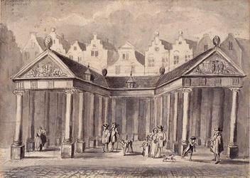 XIV-112 Vlasmarkt uit het noorden.