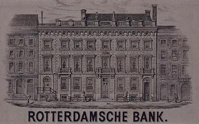 XIV-147 Gezicht op de Rotterdamsche Bank aan de Boompjes.