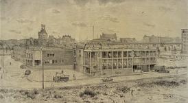 XIV-154-02 Bedrijfspand Batenburg Electrotechnisch Installatie en Handelsbureau en Emporium aan de Bredestraat, uit het ...