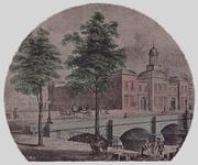 XIV-17 Gezicht op de Beurs, de Beursplein en Beursbrug, aan de Blaak.