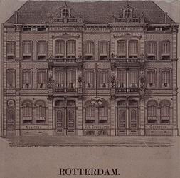 XIV-222 Voorgevel van het kantoorgebouw van de Nederlandsch-Amerikaansche Stoomvaartmaatschappij en consulaat van de ...