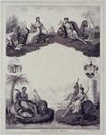 XIV-31 Gezicht op de Beurs uit het zuidoosten.Een allegorie op de handel.