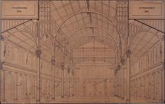 XIV-38 Beurs van Rotterdam. Voltooid in het jaar 1736. Overdekt in het jaar 1867.