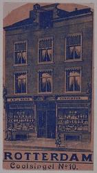XIV-415-01 Winkelhuis aan de Coolsingel, nabij de Kruiskade.