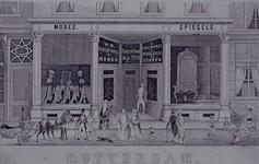 XIV-433 Pui van een winkelhuis in de Hoogstraat (wijk 7 nummer 56).
