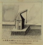 XIV-486 Kraan voor de Moriaansteeg anno 1544.