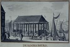 XIV-51-1 Korenbeurs aan het Steiger, vanuit het noordwesten gezien.