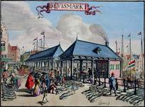 XIV-54 Gezicht op de Zeevismarkt bij de Blaak, uit het westen.