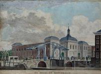XIV-9 De Blaak met de Beurs en het Beursplein en Gapersbrug.