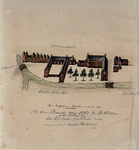 XIX-2 Gasthuis aan de Hoogstraat in vogelvlucht uit het noorden.