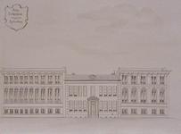 XIX-24-01 Voorgevel van het hulpziekenhuis aan de Hoogstraat.