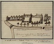 XIX-3 Het Predikheerenklooster gezien vanaf de Kipstraat.